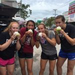 ACE Athletes trying street dumplings