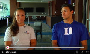 ace student-athletes interviewing each other