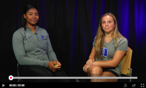 ace student athletes interviewing each other