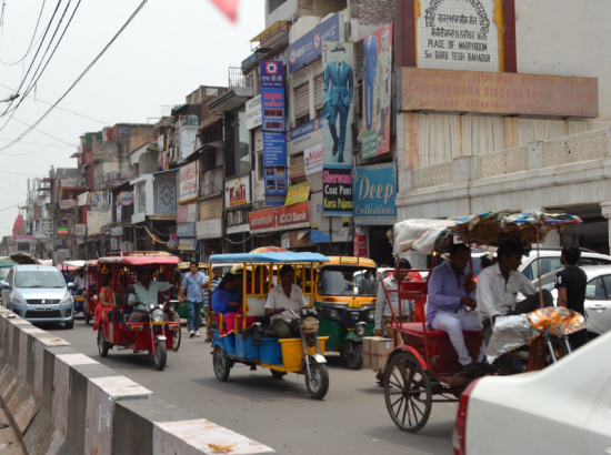 Colorful Streets in New Delhi, India