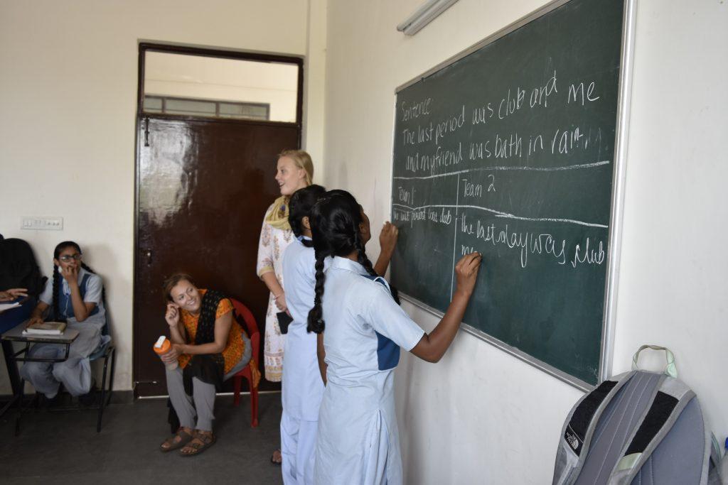 Carly Weber-Levine Teaching in VIDYA Classroom