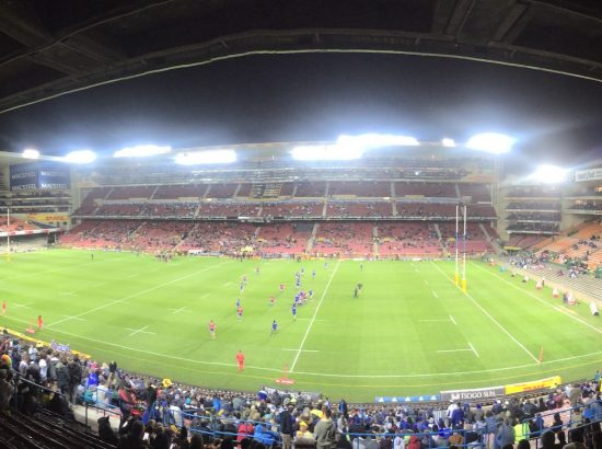 Panorama of a Rugby Pitch in South Africa