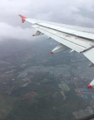 Ariel View of Kunming from the Plane