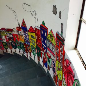 Colorful Mural in VIDYA School