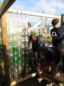 ACE Student-Athletes Constructing a Greenhouse