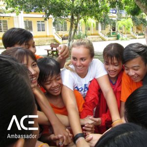 ACE participant playing games with children