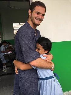 ACE Student-Athlete and VIDYA Student-Athlete Hugging