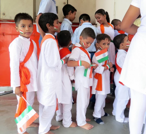 VIDYA Students Preparing for Independence Day Performance