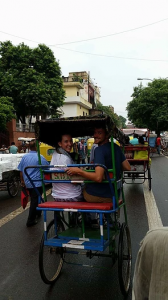 ACE Student-Athletes Riding Along New Delhi Streets