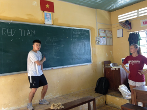 Coaches Teaching English in A Classroom