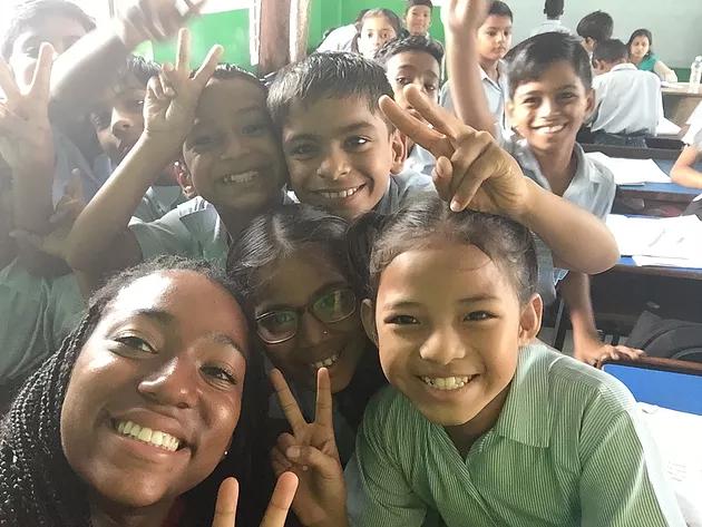 VIDYA Student Selfie in Classroom