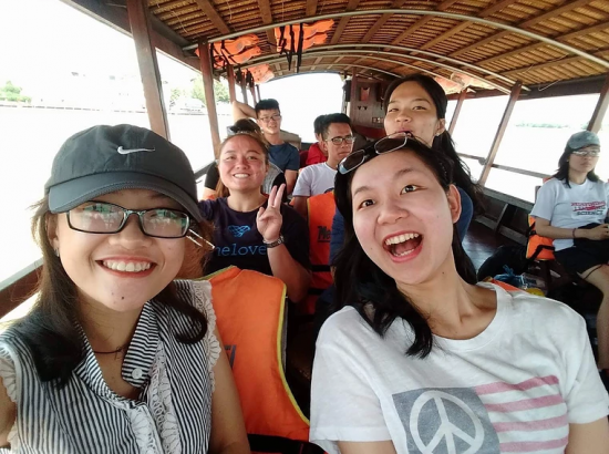 ACE Student-Athletes Riding with Vietnamese Coaches