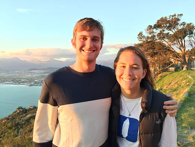 ACE Student-Athletes on Mountainous Overlook