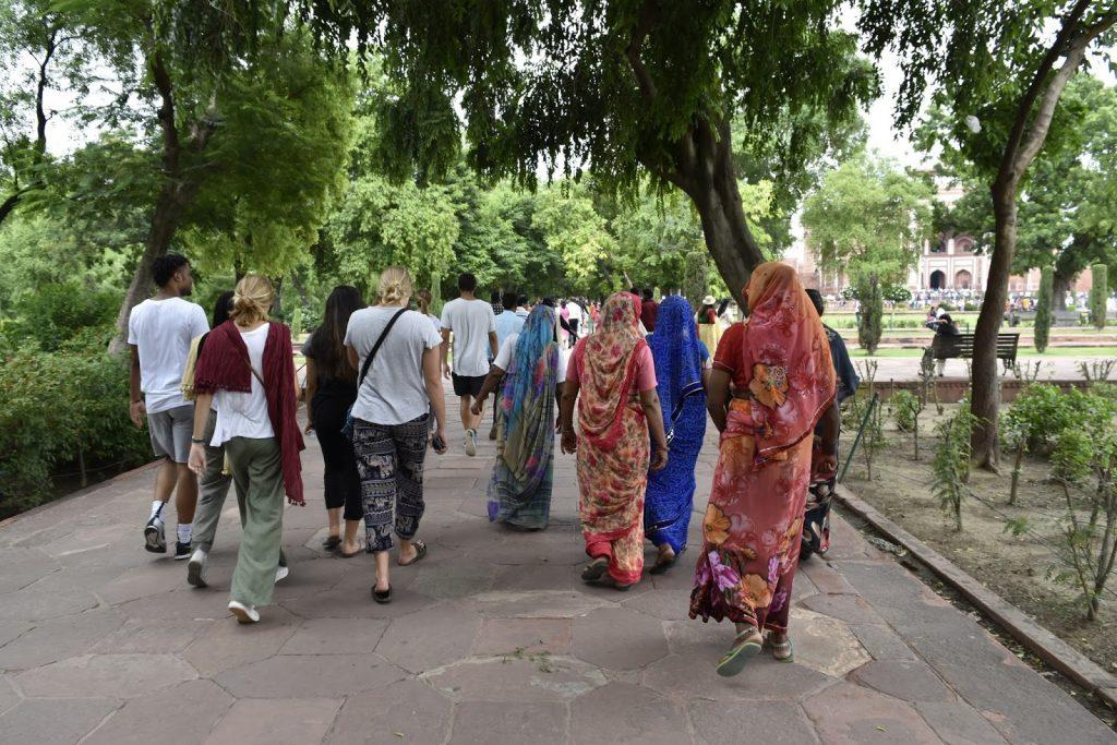 Walking Around The Taj Mahal