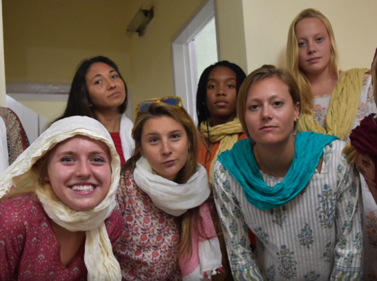 ACE Student-Athletes Try Indian Fashion