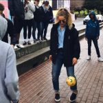 Logan Playing Soccer Outside