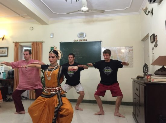 ACE participants in Indian dance class