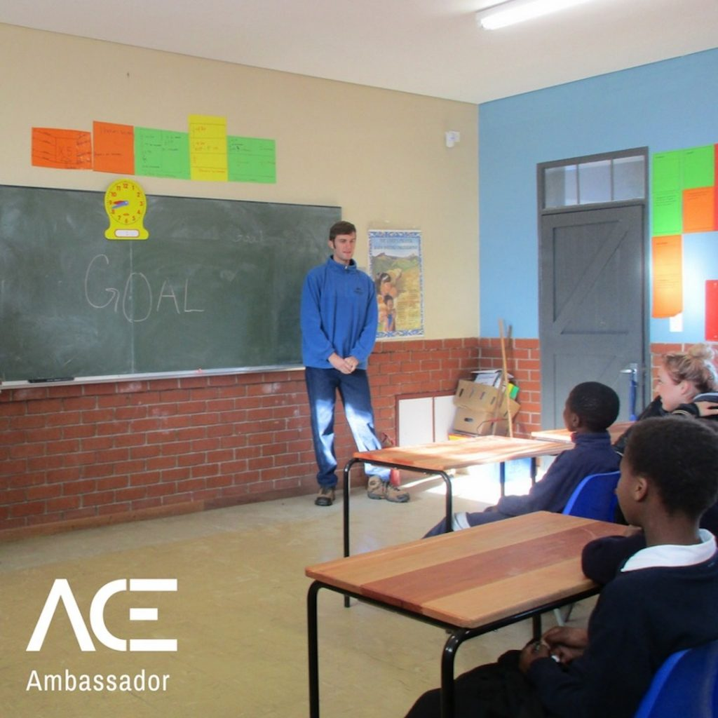 ACE participant teaching class