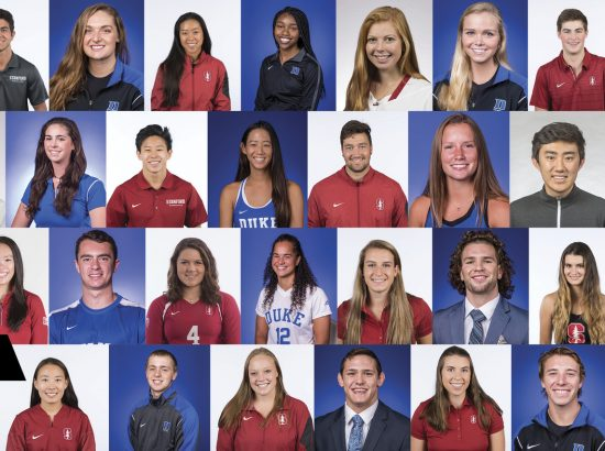 2018 ACE student-athletes profile photos from Duke and Stanford