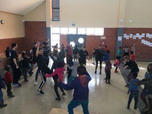 group of kids dancing