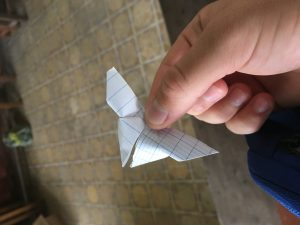 Hand holding a Paper Butterfly