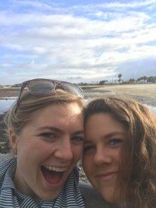 Callie and Amelia pose for selfie