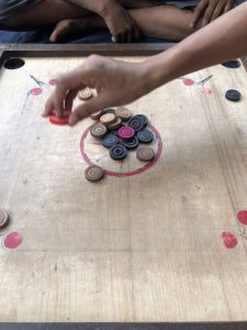 board game with round playing pieces