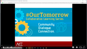 screenshot of youtube screen webinar