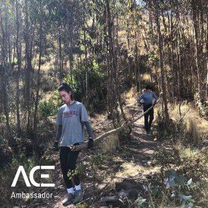 women in a forest