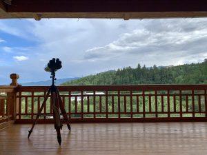 balcony of mountainous overlook