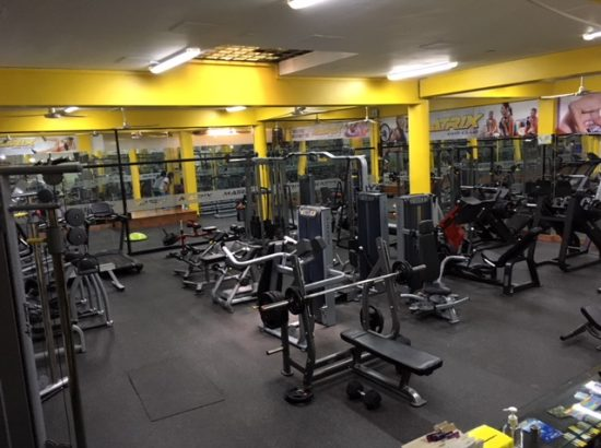 room of weights and machines