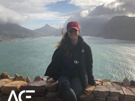 girl in front of ocean view