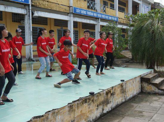 Children dancing in Vietnam