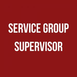red background with service group supervisor text