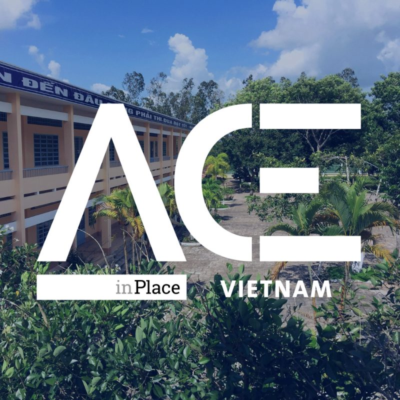 school and greenery with ace in vietnam logo