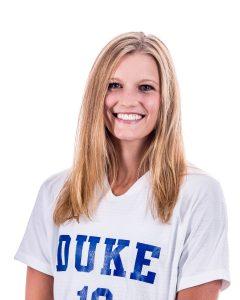 female headshot wearing duke shirt