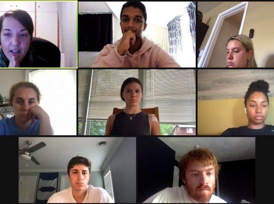 zoom screenshot of group of people